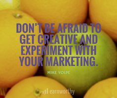 Don't be afraid to get creative and experiment with your marketing. Marketing Quotes, Dont Be Afraid, Content Marketing, Experiment, Inspirational Quotes, How To Get, Creative, Life Coach Quotes, Inspiring Quotes