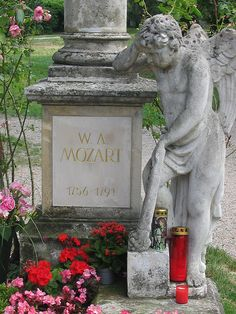 Tombstone Tales: Tomb of Mozart    ---    Wolfgang Amadeus Mozart's grave in St. Marx Cemetery in Vienna, Austria by S. Ruehlow,