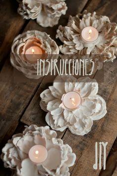 petitecandela: BLOG DE DECORACIÓN, DIY, DISEÑO Y MUCHAS VELAS: DIY: portavelas + flores