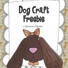 Free! A cute dog craft for children in Pre-K, Kindergarten and 1st Grade! In two printing versions : Color and black