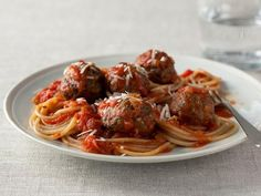 Get Lighter Spaghetti and Meatballs Recipe from Food Network