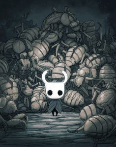 """teamcherry: """"The Hollow Knight amidst cicada shells. The first concept image for Hollow Knight, before it became a game. Concept Art Landscape, Team Cherry, Knight Games, Hollow Art, Illustration Art, Illustrations, Knight Art, Fanart, Game Concept Art"""