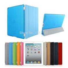 freeship Christmas Gifts Fashion Design Magnetic Smart Cover  Matte hard back Case for Apple Ipad 6/Ipad Air 2/ Ipad6/ Ipad Air2