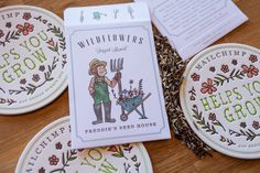 Coasters and wildflower seeds for ALT 2013