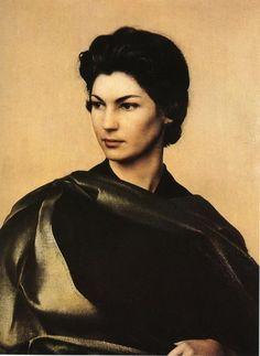 etrato femenino por Pietro Annigoni (1953).