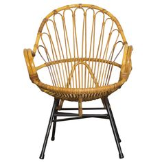 Rohe Noordwolde Bamboo Hoop Chair With Arms on Chairish.com