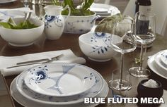 Royal Copenhagen Blue Fluted Mega