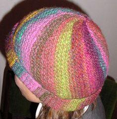 """Instruction for """"Vertigo"""" hat knit sideways free knitting pattern"""