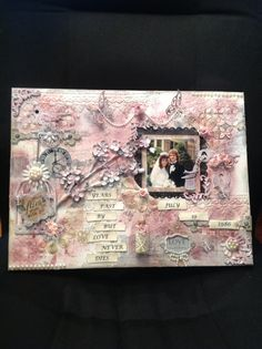 Mixed media canvas of your wedding day❤️❤️