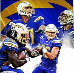 Los Angeles Chargers In The Color Rush Uniforms