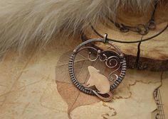 Copper wire wrapped rat pendant rat figurine jewelery round