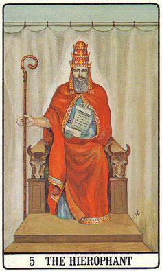 The Hierophant - Golden Dawn Tarot
