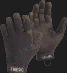 Damascus Rappelling Gloves Rescue SWAT Tactical Leather Mens Glove Large