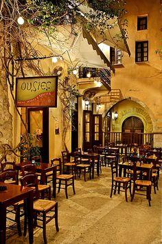 The Mezedakia Bar in the old town of Rethymno on the island of Crete, Greece ✯ ωнιмѕу ѕαη∂у Mykonos, Santorini, Greece Vacation, Greece Travel, Greek Island Hopping, Paros Greece, Paros Island, Greece Islands, Dream Vacations