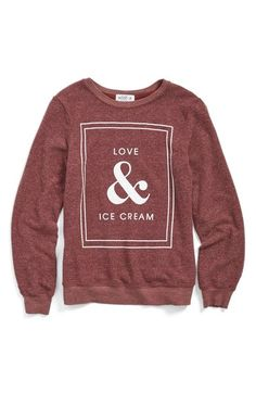 The perfect sweatshirt for digging into a delicious pint of Halo Top ice cream!