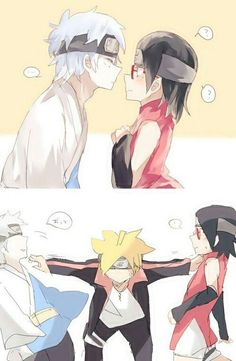 No! Bad Mitsuki! You are not to be shipped with Sarada.