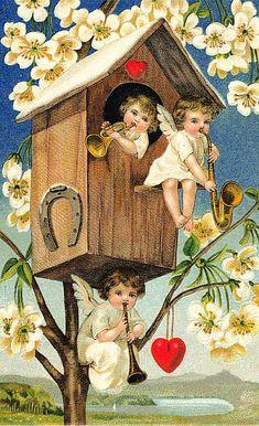 Амурчики на старых открытках. Обсуждение на LiveInternet - Российский Сервис Онлайн-Дневников