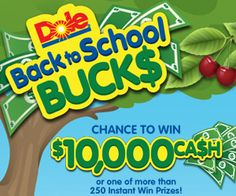 Win $10,000 Back to School Buck$ with Dole