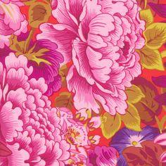 Philip Jacobs Fabric, Lavinia Red (per 1/4 metre)