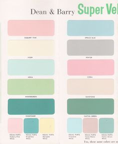 Vintage + Goodness = Happiness - A Blog For All The Vintage Geeks: Vintage Decorating - 1950's Paint Color Chip Brochures
