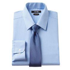 Men's Apt. 9® Slim-Fit Dress Shirt & Tie Set, Size: