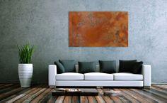 Abstraktes Gemälde aus echtem Rost 100x60cm von xxl-art.de