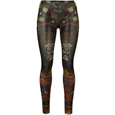 Dsquared2 Underwear Samurai Tattoo Leggings (435 BRL) ❤ liked on Polyvore featuring pants, leggings, multicolour, multi color pants, colorful pants, multi colored leggings, dsquared2 pants and legging pants