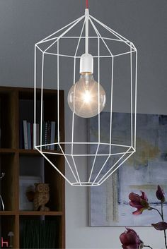 This simple, geometric suspension lamp by Gibas is ideal for every room at home.