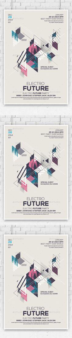 #Electro Future Concert #Dj #Flyer - Flyers Print Templates