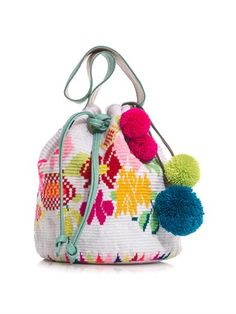 Nataly woven-cotton bucket bag   Sophie Anderson   MATCHESFASH...