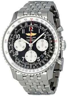 Breitling Navitimer 01 Black Dial Stainless Steel Mens Watch AB012012-BB02SS