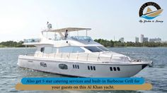 Al Khan Yachts with capacity to accommodate up to 50 guests and its fall in the category of luxury private yacht charter. Guests has been renting it for private chartering and also for family and friends gathering.