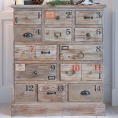 Numbered drawers.