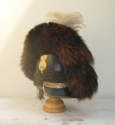 A Waterloo Officers tarleton helmet which may possibly have belonged to the famous Cavalie Mercer Napoleonic period