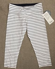 NWT Lululemon Wunder Under Crop Pants, Quiet Stripe, 8 | Clothing, Shoes & Accessories, Women's Clothing, Athletic Apparel | eBay!