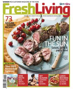 The magazine is available at all Pick n Pay stores nationwide for only Living Magazine, The Fresh, Summer Recipes, Food Photography, Grilling, Salads, Lunch, Beef, Recipe Magazine