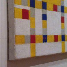 Piet Mondrian, Broadway Boogie Woogie, detail