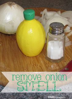 """Good tip on removing that """"onion"""" smell from your cutting boards"""