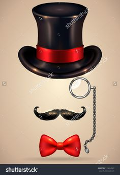 stock-vector-vintage-silhouette-of-top-hat-mustaches-monocle-and-a-bow-tie-vector-illustration-shadow-and-113824567.jpg (1099×1600)