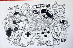 imagens Doodle Invasion Coloring Book para imprimir - Pesquisa Google