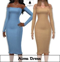 Lumy Sims - Alma Dress for The Sims 4 Sims 4 Teen, Sims Four, Sims 4 Toddler, Sims 4 Mm, Sims 4 Mods Clothes, Sims 4 Clothing, Maxis, Sims 4 Wedding Dress, Raglan Pullover