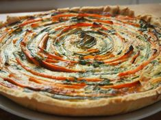 French quiche with courgettes and carrots
