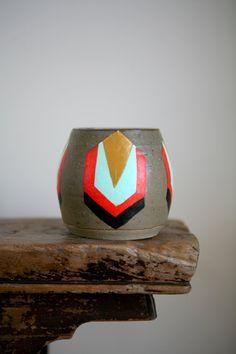 painted vintage vase