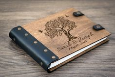 Wedding Guest book Guestbook Customized Wedding Date от woodlack