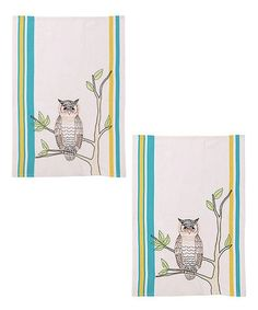 Love this Embroidered Owl Kitchen Towel - Set of Two on #zulily! #zulilyfinds