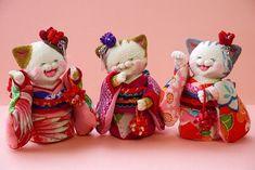 「 晴れ着ねこ 」 - ちりめん猫のハンドメイド日和