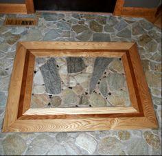 Welcome Mats, Hardwood, Custom Design, Stone, Natural, Frame, Home Decor, Picture Frame, Natural Wood