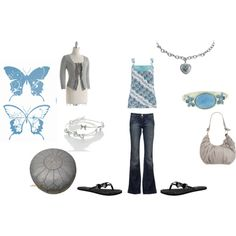 Blue and gray casual