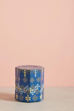 Tracey Boyd Moussem Ceramic Stool, blue, pattern, blue aesthetic, blue theme, royal blue, navy, blue things, blue theme, everything blue, decor ( affiliate )