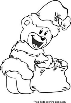 Find Santa coloring pages to print out and color in all year round